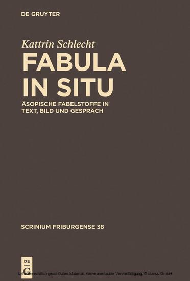 Fabula in situ - Blick ins Buch