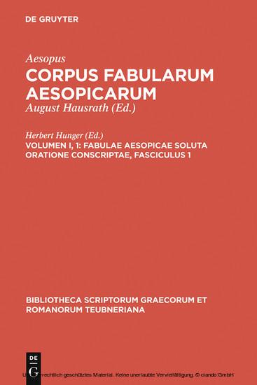 Fabulae Aesopicae soluta oratione conscriptae, Fasciculus 1 - Blick ins Buch