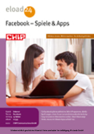 Facebook - Spiele - Apps - Blick ins Buch