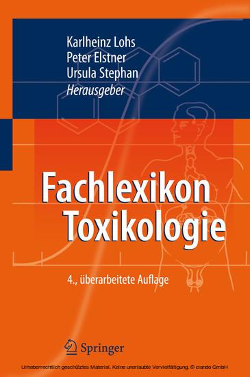 Fachlexikon Toxikologie - Blick ins Buch