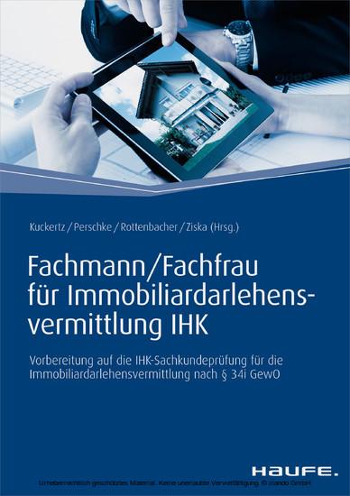 Fachmann/Fachfrau für Immobiliardarlehensvermittlung IHK - Blick ins Buch