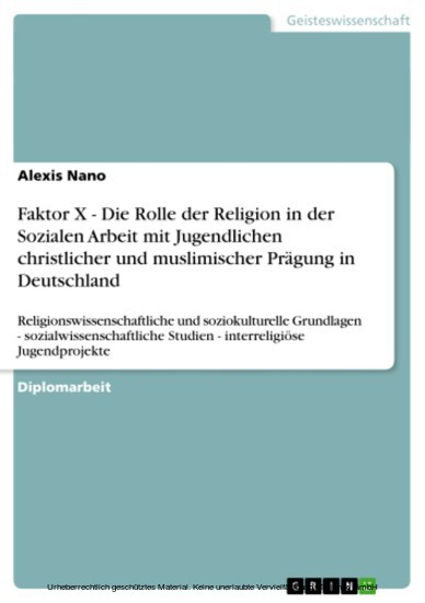 Faktor X - Die Rolle der Religion in der Sozialen Arbeit mit Jugendlichen christlicher und muslimischer Prägung in Deutschland - Blick ins Buch