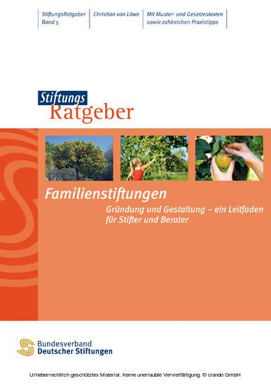 Familienstiftungen - Blick ins Buch