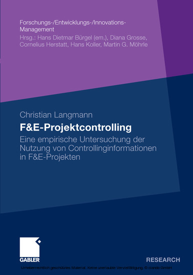 F&E-Projektcontrolling - Blick ins Buch