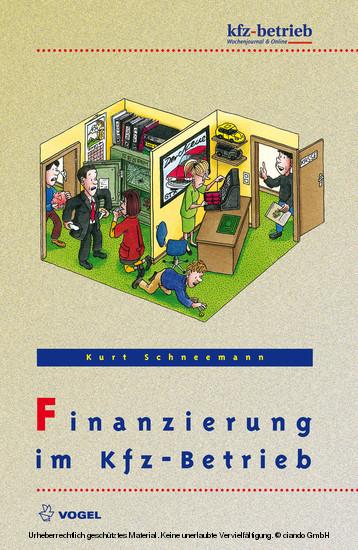 Finanzierung im Kfz-Betrieb - Blick ins Buch