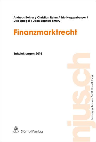 Finanzmarktrecht - Blick ins Buch
