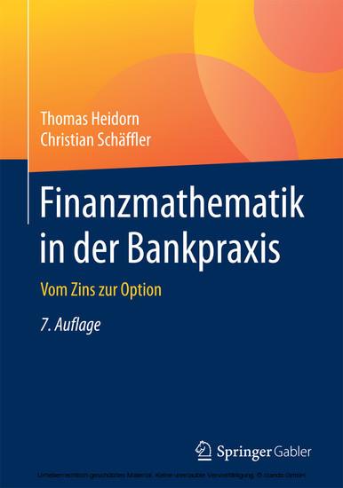 Finanzmathematik in der Bankpraxis - Blick ins Buch