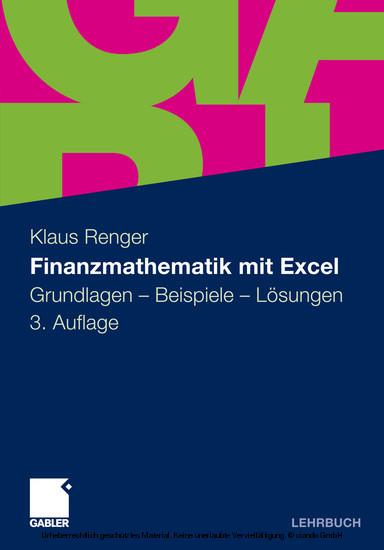 Finanzmathematik mit Excel - Blick ins Buch
