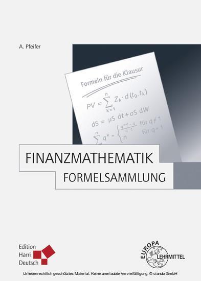 Finanzmathematik - Formelsammlung (Pfeifer) - Blick ins Buch