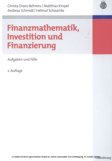 Finanzmathematik, Investition und Finanzierung - Blick ins Buch