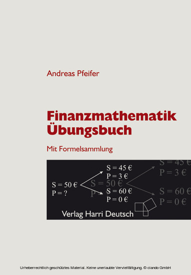 Finanzmathematik - Übungsbuch (Pfeifer) - Blick ins Buch