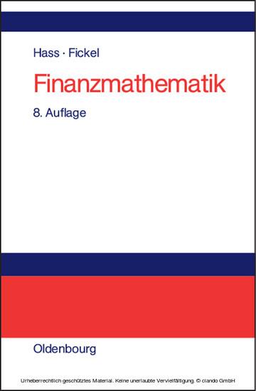 Finanzmathematik - Blick ins Buch
