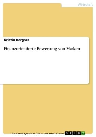 Finanzorientierte Bewertung von Marken - Blick ins Buch