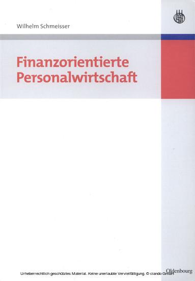 Finanzorientierte Personalwirtschaft - Blick ins Buch
