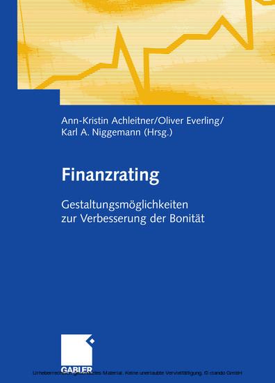 Finanzrating - Blick ins Buch