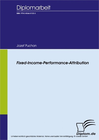 Fixed Income Performance Attribution - Blick ins Buch