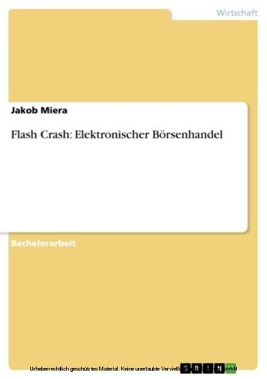 Flash Crash: Elektronischer Börsenhandel - Blick ins Buch