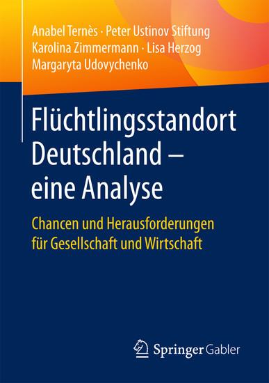 Flüchtlingsstandort Deutschland - eine Analyse - Blick ins Buch