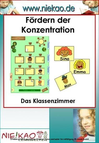 Fördern der Konzentration - Das Klassenzimmer - Blick ins Buch