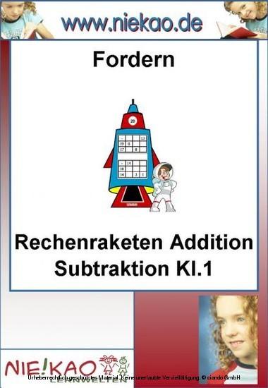 Fordern - Rechenraketen ´´Addition Subtraktion Kl.1´´ - Blick ins Buch