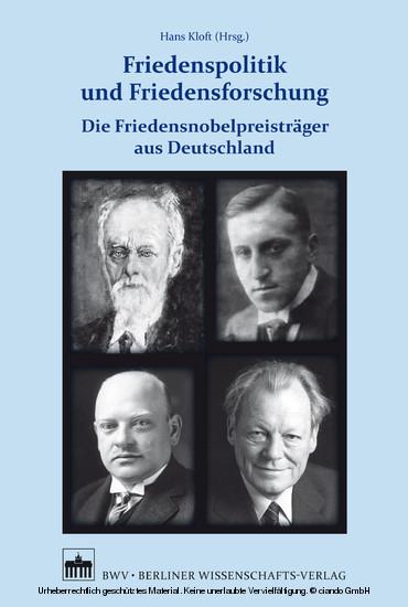 Friedenspolitik und Friedensforschung - Blick ins Buch