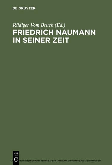 Friedrich Naumann in seiner Zeit - Blick ins Buch