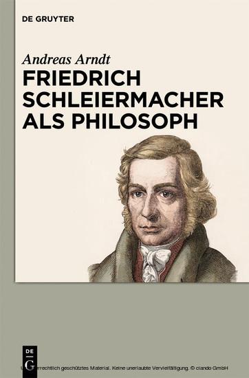 Friedrich Schleiermacher als Philosoph - Blick ins Buch
