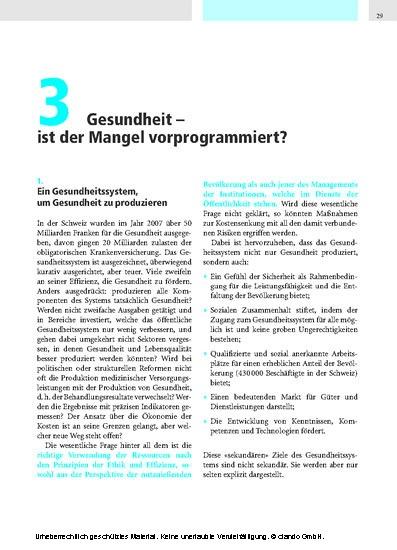 Für eine qualitativ hochwertige Gesundheitsversorgung in der Schweiz, 2. Auflage - Blick ins Buch