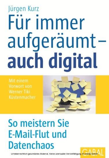 Für immer aufgeräumt - auch digital - Blick ins Buch