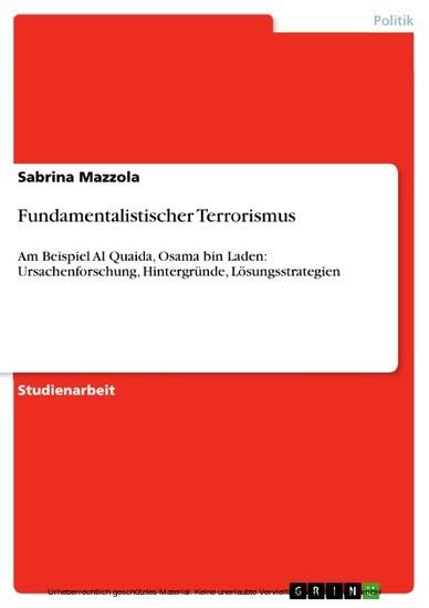 Fundamentalistischer Terrorismus - Blick ins Buch