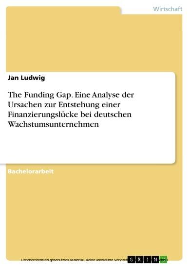 The Funding Gap. Eine Analyse der Ursachen zur Entstehung einer Finanzierungslücke bei deutschen Wachstumsunternehmen - Blick ins Buch