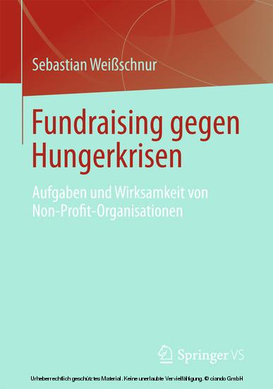 Fundraising gegen Hungerkrisen - Blick ins Buch