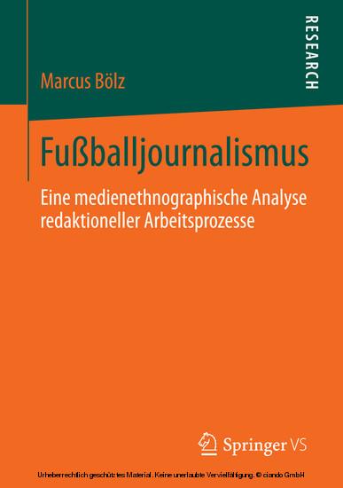 Fußballjournalismus - Blick ins Buch