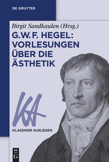 G. W. F. Hegel: Vorlesungen über die Ästhetik - Blick ins Buch