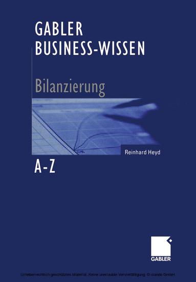 Gabler Business-Wissen A-Z Bilanzierung - Blick ins Buch