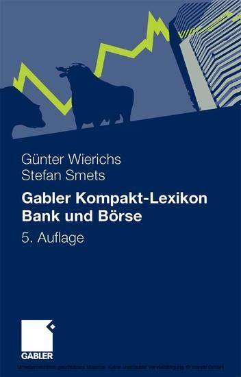 Gabler Kompakt-Lexikon Bank und Börse - Blick ins Buch