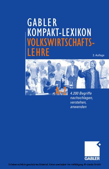 Gabler Kompakt-Lexikon Volkswirtschaftslehre - Blick ins Buch