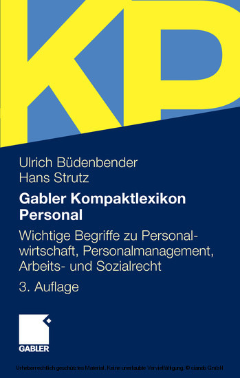 Gabler Kompaktlexikon Personal - Blick ins Buch