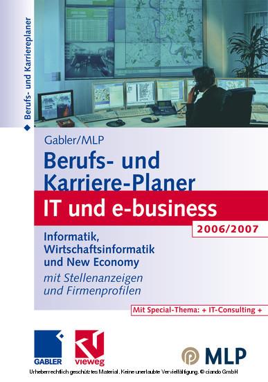 Gabler / MLP Berufs- und Karriere-Planer IT und e-business 2006/2007 - Blick ins Buch