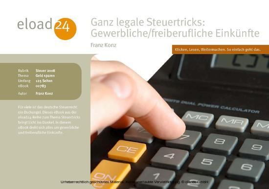 Ganz legale Steuertricks: Gewerbliche und freiberufliche Einkünfte - Blick ins Buch
