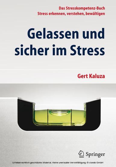 Gelassen und sicher im Stress - Blick ins Buch
