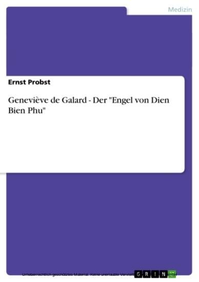 Geneviève de Galard - Der 'Engel von Dien Bien Phu' - Blick ins Buch