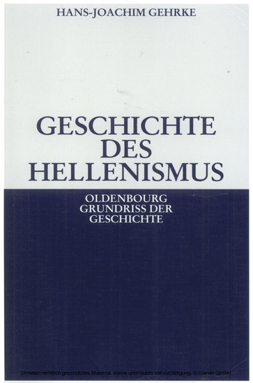 Geschichte des Hellenismus - Blick ins Buch