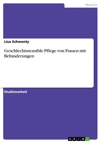 Geschlechtssensible Pflege von Frauen mit Behinderungen - Blick ins Buch