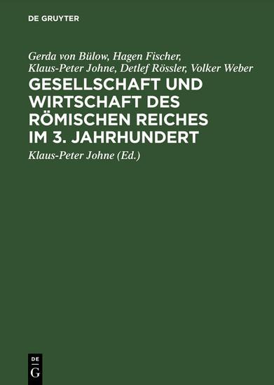 Gesellschaft und Wirtschaft des Römischen Reiches im 3. Jahrhundert - Blick ins Buch