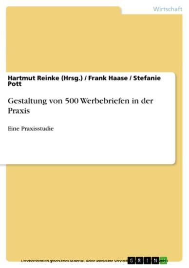 Gestaltung von 500 Werbebriefen in der Praxis - Blick ins Buch