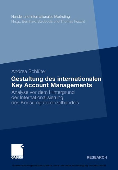 Gestaltung des internationalen Key Account Managements - Blick ins Buch