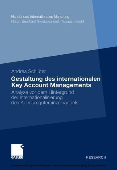 Gestaltung des internationalen Key Account Managements - Blick ins Buch