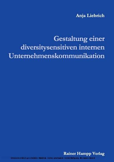 Gestaltung einer diversitysensitiven internen Unternehmenskommunikation - Blick ins Buch