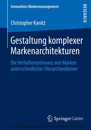 Gestaltung komplexer Markenarchitekturen - Blick ins Buch